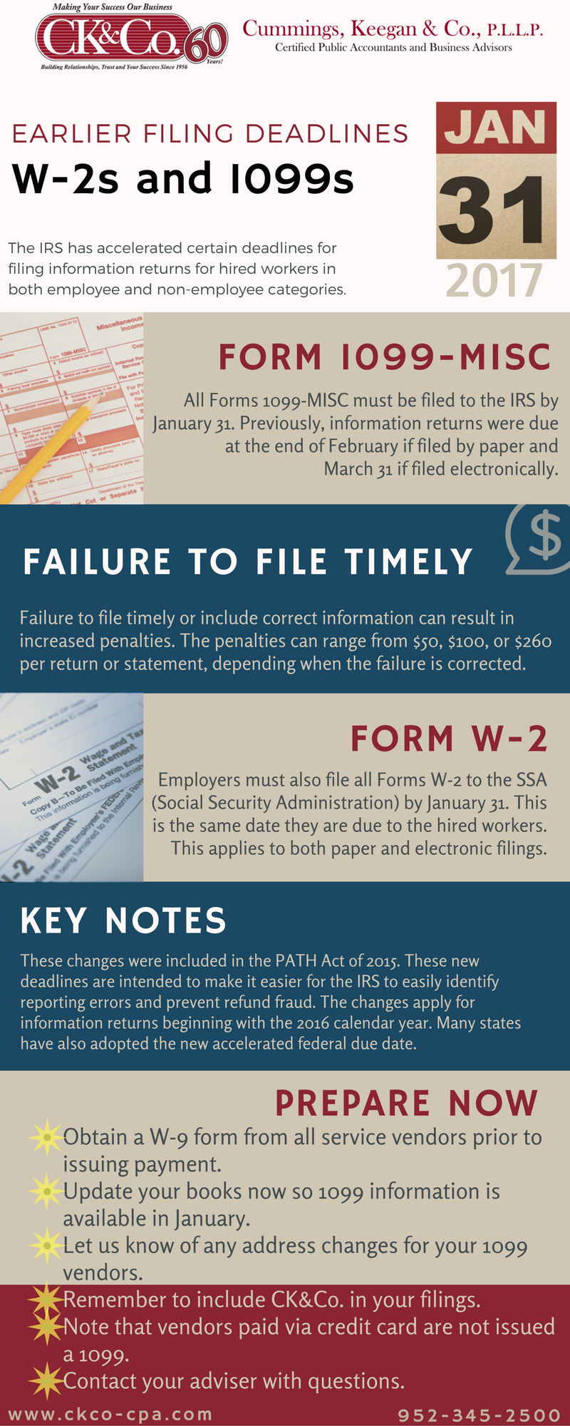New Deadline '� All 1099misc Forms Must Be Filed To The Irs By January 31